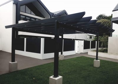 Custom pergola created by SRS Group